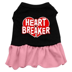Mirage Pet Products Heart Breaker Dresses Black with Pink Sm (10)