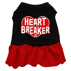 Mirage Pet Products Heart Breaker Dresses Black with Red XL (16)