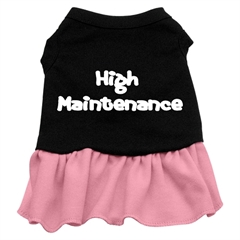 Mirage Pet Products High Maintenance Dresses Black with Pink Sm (10)