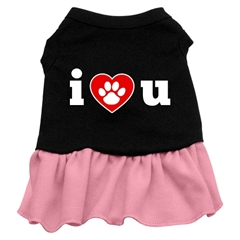 Mirage Pet Products I Heart You Dresses Black with Pink Med (12)