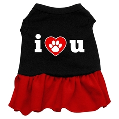 Mirage Pet Products I Heart You Dresses Black with Red XL (16)
