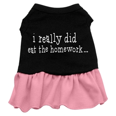 Mirage Pet Products I really did eat the Homework Screen Print Dress Black with Pink XXL (18)