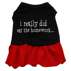 Mirage Pet Products I really did eat the Homework Screen Print Dress Black with Red Med (12)