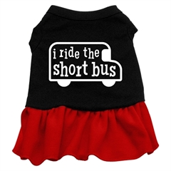 Mirage Pet Products I ride the short bus Screen Print Dress Black with Red XXXL (20)