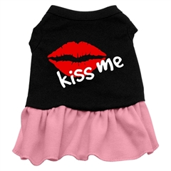 Mirage Pet Products Kiss Me Dresses Black with Pink XXL (18)