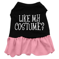 Mirage Pet Products Like my costume? Screen Print Dress Black with Pink Lg (14)