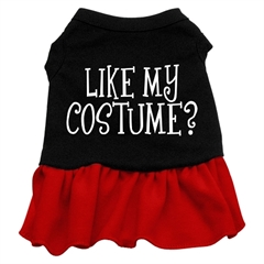 Mirage Pet Products Like my costume? Screen Print Dress Black with Red XXL (18)