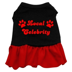 Mirage Pet Products Local Celebrity Screen Print Dress  Black with Red XXL (18)