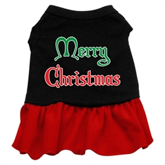 Mirage Pet Products Merry Christmas Screen Print Dress Black with Red XXXL (20)