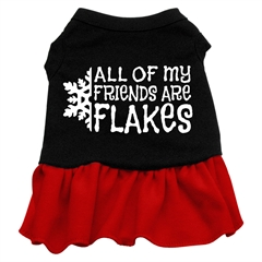 Mirage Pet Products All my friends are Flakes Screen Print Dress Black with Red XXXL (20)