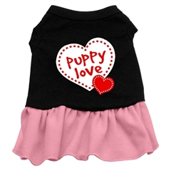 Mirage Pet Products Puppy Love Dresses Black with Pink XXXL (20)