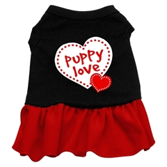 Mirage Pet Products Puppy Love Dresses Black with Red XXXL (20)