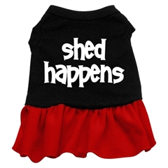 Mirage Pet Products Shed Happens Screen Print Dress Black with Red XXXL (20)