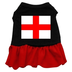 Mirage Pet Products St. Georges Cross Screen Print Dress Black with Red Med (12)
