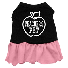 Mirage Pet Products Teachers Pet Screen Print Dress Black with Pink Lg (14)