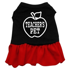 Mirage Pet Products Teachers Pet Screen Print Dress Black with Red Med (12)