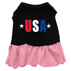 Mirage Pet Products USA Star Screen Print Dress Black with Pink XS (8)