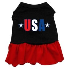 Mirage Pet Products USA Star Screen Print Dress Black with Red XXXL (20)
