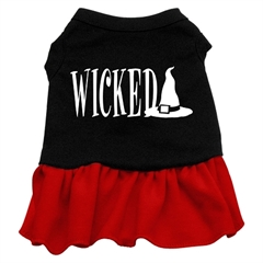 Mirage Pet Products Wicked Screen Print Dress Black with Red XS (8)