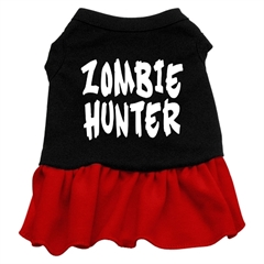 Mirage Pet Products Zombie Hunter Screen Print Dress Black with Red XXXL (20)