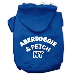 Mirage Pet Products Aberdoggie NY Screenprint Pet Hoodies Blue Size Med (12)