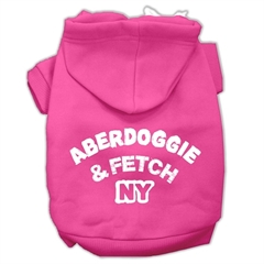 Mirage Pet Products Aberdoggie NY Screenprint Pet Hoodies Bright Pink Size XL (16)