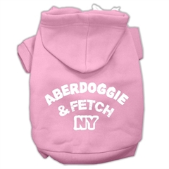 Mirage Pet Products Aberdoggie NY Screenprint Pet Hoodies Light Pink Size XS (8)