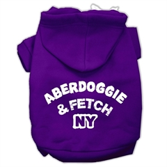 Mirage Pet Products Aberdoggie NY Screenprint Pet Hoodies Purple Size Sm (10)