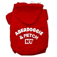 Mirage Pet Products Aberdoggie NY Screenprint Pet Hoodies Red Size Lg (14)
