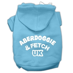 Mirage Pet Products Aberdoggie UK Screenprint Pet Hoodies Baby Blue Size XL (16)