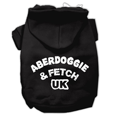 Mirage Pet Products Aberdoggie UK Screenprint Pet Hoodies Black Size XS (8)