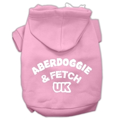 Mirage Pet Products Aberdoggie UK Screenprint Pet Hoodies Light Pink Size XS (8)
