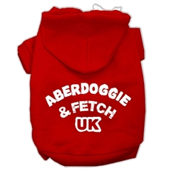 Mirage Pet Products Aberdoggie UK Screenprint Pet Hoodies Red Size XXXL (20)