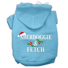 Mirage Pet Products Aberdoggie Christmas Screen Print Pet Hoodies Baby Blue Size S (10)