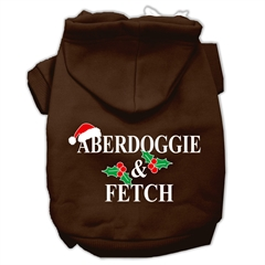 Mirage Pet Products Aberdoggie Christmas Screen Print Pet Hoodies Brown Size XXXL(20)