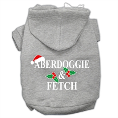 Mirage Pet Products Aberdoggie Christmas Screen Print Pet Hoodies Grey Size XXXL(20)