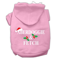 Mirage Pet Products Aberdoggie Christmas Screen Print Pet Hoodies Light Pink Size S (10)