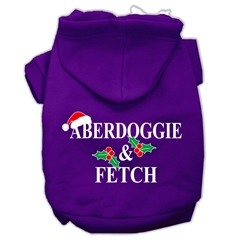 Mirage Pet Products Aberdoggie Christmas Screen Print Pet Hoodies Purple Size XXXL(20)