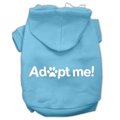 Mirage Pet Products Adopt Me Screen Print Pet Hoodies Baby Blue Size Med (12)