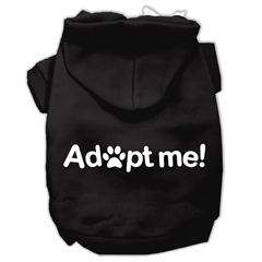 Mirage Pet Products Adopt Me Screen Print Pet Hoodies Black Size Sm (10)