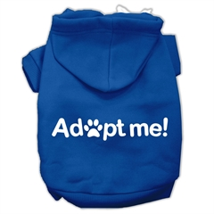 Mirage Pet Products Adopt Me Screen Print Pet Hoodies Blue Size XXXL (20)