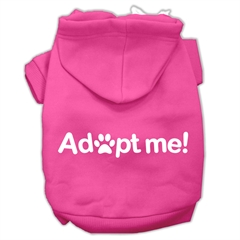 Mirage Pet Products Adopt Me Screen Print Pet Hoodies Bright Pink Size Lg (14)