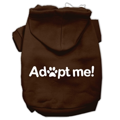 Mirage Pet Products Adopt Me Screen Print Pet Hoodies Brown Size Med (12)
