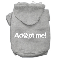 Mirage Pet Products Adopt Me Screen Print Pet Hoodies Grey Size Sm (10)