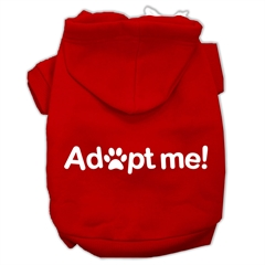 Mirage Pet Products Adopt Me Screen Print Pet Hoodies Red Size Sm (10)