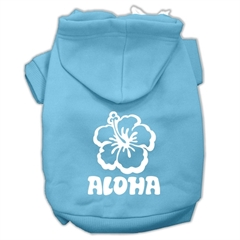 Mirage Pet Products Aloha Flower Screen Print Pet Hoodies Baby Blue Size XXXL (20)