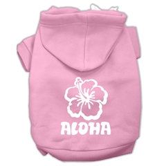 Mirage Pet Products Aloha Flower Screen Print Pet Hoodies Light Pink Size Sm (10)