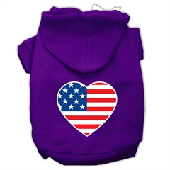 Mirage Pet Products American Flag Heart Screen Print Pet Hoodies Purple Size XXL (18)