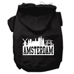 Mirage Pet Products Amsterdam Skyline Screen Print Pet Hoodies Black Size XS (8)