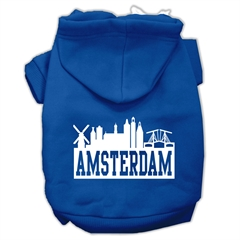 Mirage Pet Products Amsterdam Skyline Screen Print Pet Hoodies Blue Size Lg (14)
